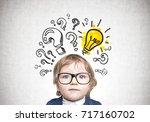 close up portrait of a cute... | Shutterstock . vector #717160702