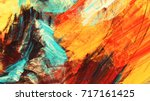 bright artistic splashes.... | Shutterstock . vector #717161425