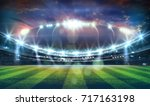 lights at night and football... | Shutterstock . vector #717163198