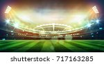 lights at night and football... | Shutterstock . vector #717163285