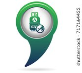 camping gas bottle icon. flat... | Shutterstock .eps vector #717164422