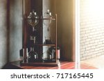 lab tube and equipment on... | Shutterstock . vector #717165445