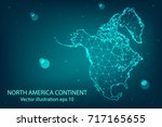 vector map   abstract mash... | Shutterstock .eps vector #717165655