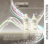 3d realistic cosmetic bottle...   Shutterstock .eps vector #717170536