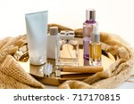 face care cosmetic set with... | Shutterstock . vector #717170815