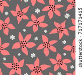 winter seamless pattern with... | Shutterstock .eps vector #717171415