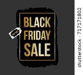 abstract black friday sale... | Shutterstock .eps vector #717171802