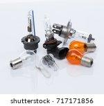 halogen car headlamp bulb | Shutterstock . vector #717171856