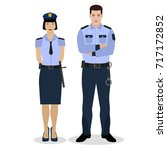 police offiders in a uniform.... | Shutterstock .eps vector #717172852