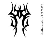 tattoo tribal vector design.... | Shutterstock .eps vector #717174412