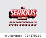 vector of modern bold font and... | Shutterstock .eps vector #717175192