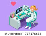 doctor cartoon. vector medic... | Shutterstock .eps vector #717176686
