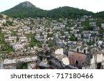 view over kayakoy ghost town in ... | Shutterstock . vector #717180466