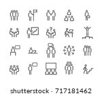 simple set of business people... | Shutterstock .eps vector #717181462