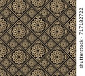 seamless pattern oriental... | Shutterstock .eps vector #717182722