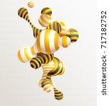 golden decorative balls....   Shutterstock .eps vector #717182752