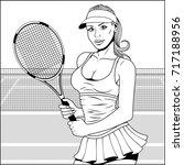 vector illustration  pop art... | Shutterstock .eps vector #717188956