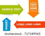 color arrow bookmarks templates ... | Shutterstock .eps vector #717189565
