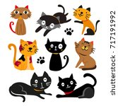 cats charcater design | Shutterstock .eps vector #717191992