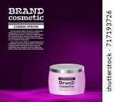 3d realistic cosmetic bottle... | Shutterstock .eps vector #717193726