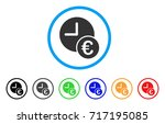 euro recurring payments rounded ... | Shutterstock .eps vector #717195085