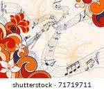 retro music background