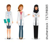 doctor occupation character... | Shutterstock .eps vector #717198085
