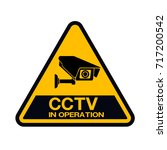 cctv camera. black video... | Shutterstock .eps vector #717200542
