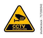 cctv camera. black video... | Shutterstock .eps vector #717200542