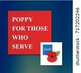 the remembrance poppy   poppy... | Shutterstock .eps vector #717202246