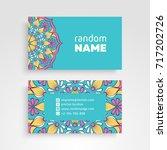 business card. vintage... | Shutterstock .eps vector #717202726