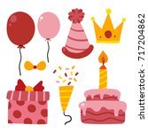 birthday collection   Shutterstock .eps vector #717204862