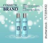 3d realistic cosmetic bottle...   Shutterstock .eps vector #717205432