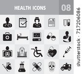 medical and health care icons ... | Shutterstock .eps vector #717206086