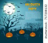 halloween party flyer with...   Shutterstock .eps vector #717208132