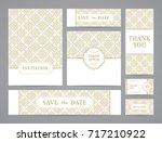 set of ornate vector cards.... | Shutterstock .eps vector #717210922