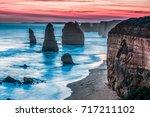 twelve apostles rock formations ... | Shutterstock . vector #717211102