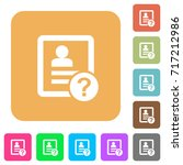 unknown contact flat icons on...   Shutterstock .eps vector #717212986