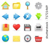set of internet icons on a... | Shutterstock .eps vector #71721469