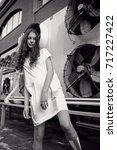 streetstyle  fashion.... | Shutterstock . vector #717227422