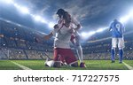 soccer players celebrate a... | Shutterstock . vector #717227575