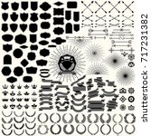 design elements collection for... | Shutterstock .eps vector #717231382