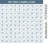 simple set of video camera... | Shutterstock .eps vector #717241222