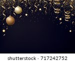 vector christmas background... | Shutterstock .eps vector #717242752