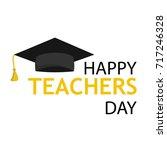 typography banner happy teacher ... | Shutterstock .eps vector #717246328
