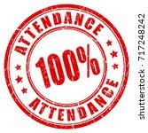 attendance vector rubber stamp... | Shutterstock .eps vector #717248242