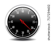 round metal time counter vector ... | Shutterstock .eps vector #717254602