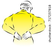 a woman has a stomach ache.... | Shutterstock .eps vector #717257818