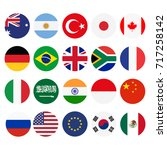 vector illustration of g 20... | Shutterstock .eps vector #717258142