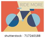 bicycle ride more vector... | Shutterstock .eps vector #717260188